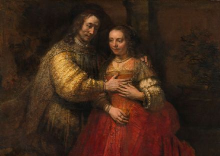 Rembrandt Harmensz van Rijn: The Jewish Bride. Fine Art Print/Poster. Sizes: A4/A3/A2/A1 (001851)